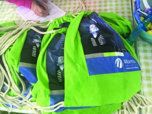 Morrlaw branded bags