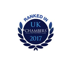 Ranked in UK Chambers 2017