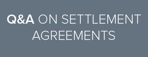 QA settlement agreements